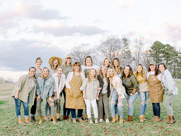 The whole crew of Those Plant Ladies with Fawn and Heather.