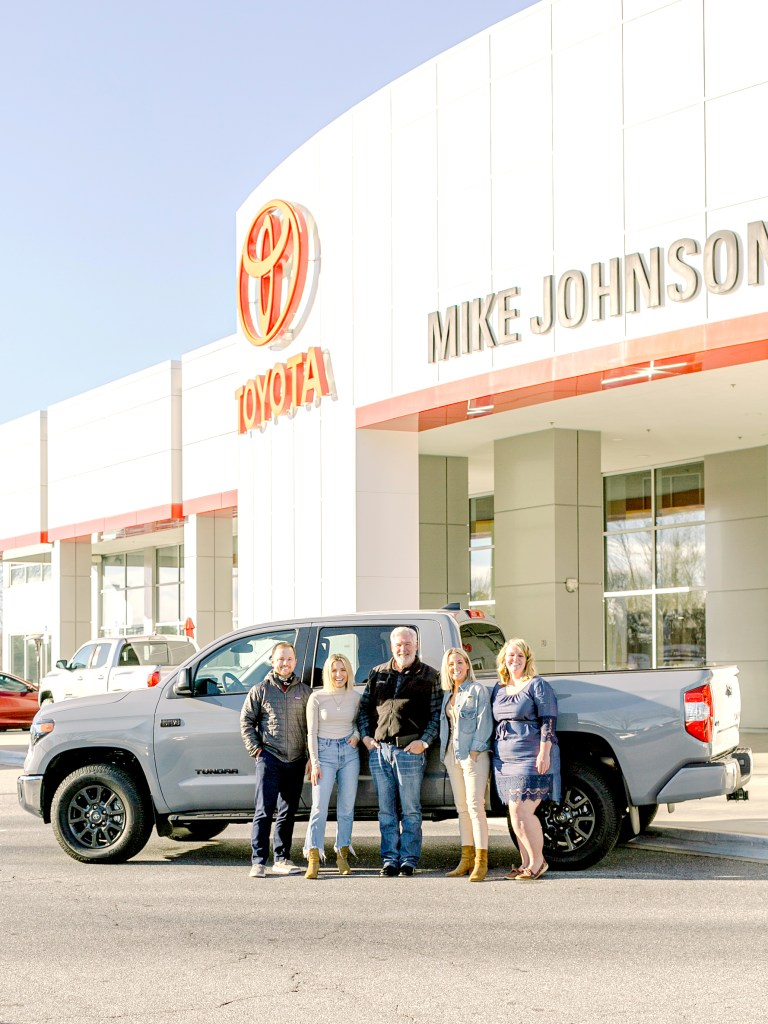 Fawn and Heather of Those Plant Ladies with Mike Johnson and staff at Mike Johnson's Hickory Toyota.