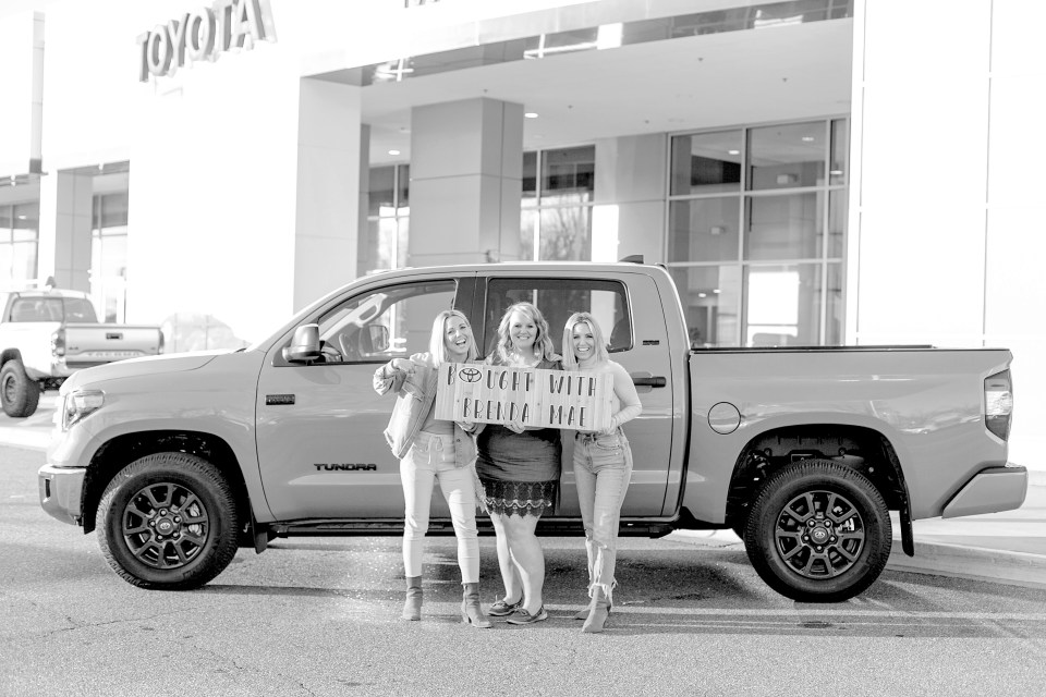 Fawn and Heather of Those Plant Ladies with Brenda at Mike Johnson's Hickory Toyota.