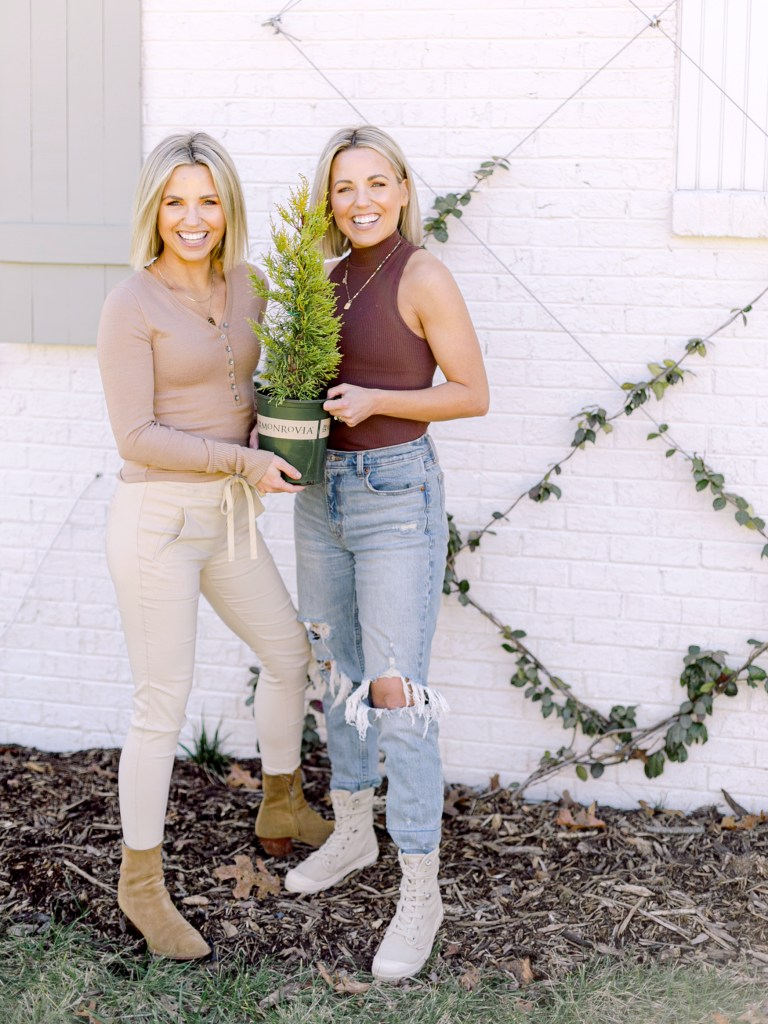 Heather and Fawn of Those Plant Ladies with Monrovia's Donard Gold Monterey Cypress.