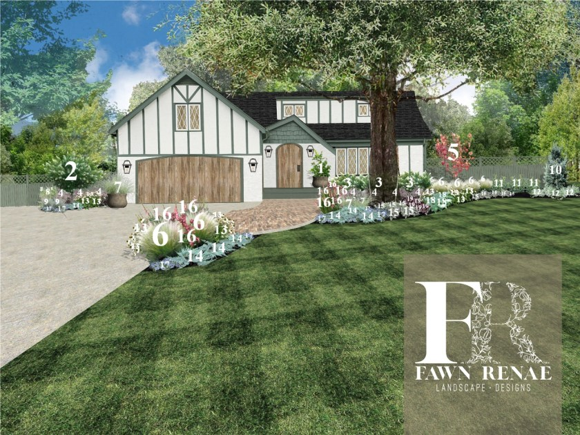 Exterior home design by Fawn Renae Designs for Those Plant Ladies Total Transformation + the HGTV show.