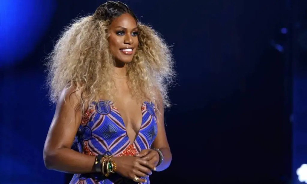 Laverne Cox speaks onstage during ESSENCE Black Women in Hollywood Awards in Los Angeles