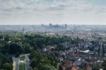 Blick aus dem Atomium über Brüssel