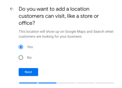 event planner's local address on Google my Business