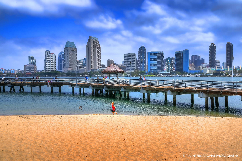 Downtown San Diego from Coronado Island