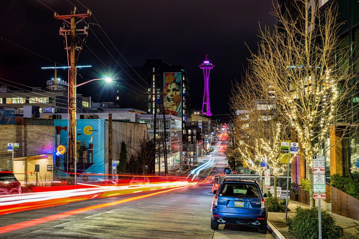 Thomas Street, South Lake Union, Seattle (December 30, 2019)