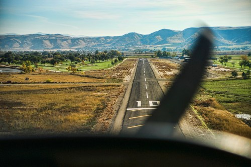 Aircraft runway near Emmett, Idaho.