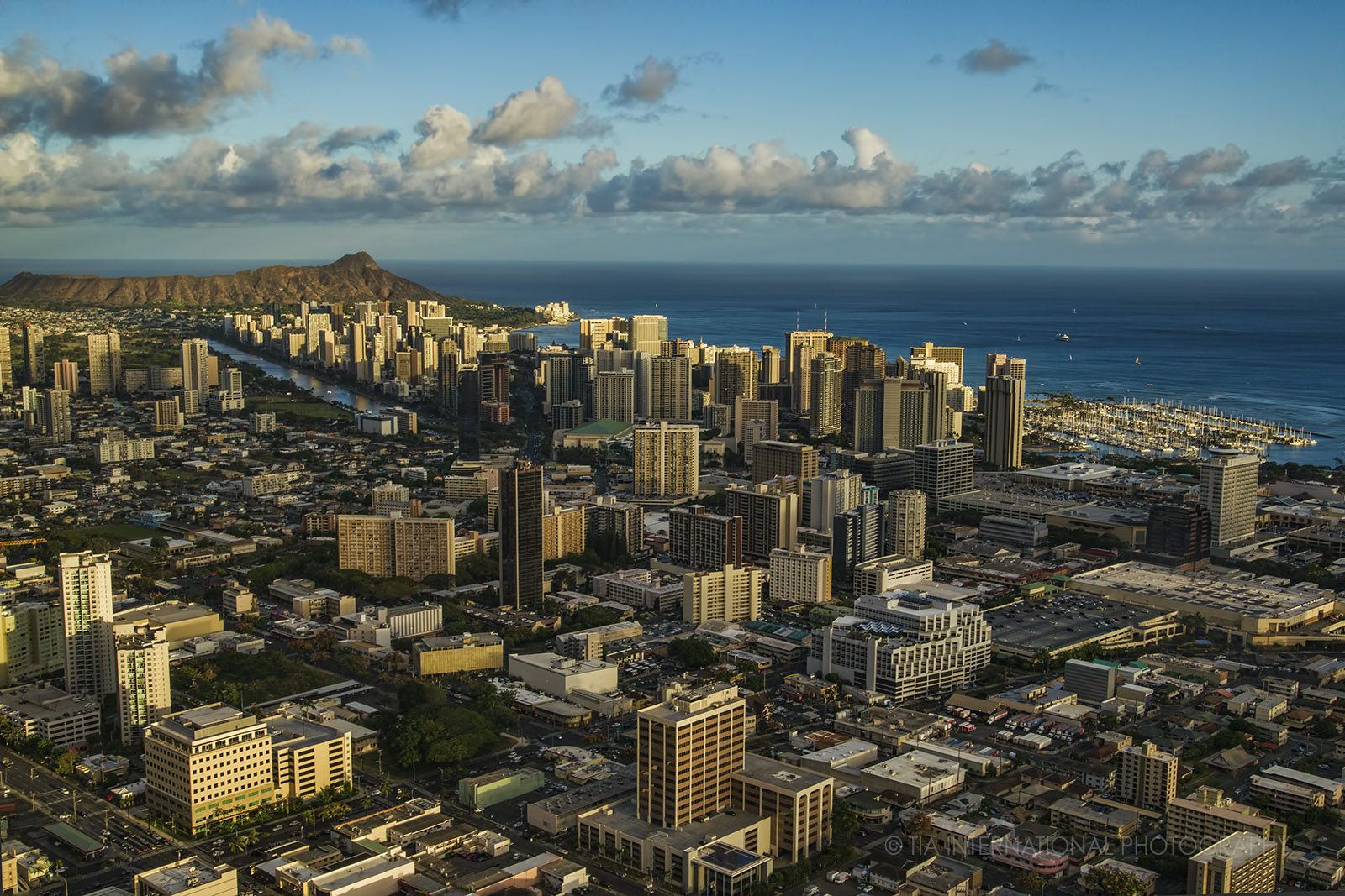 Aerial view of Honolulu, Hawaii.