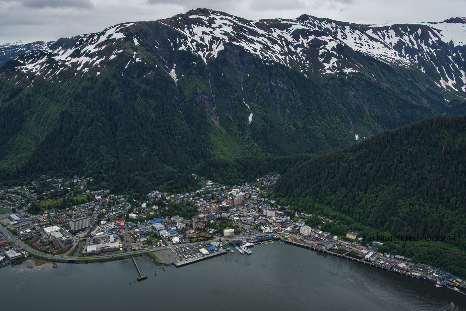 Aerial view of Juneau, Alaska.