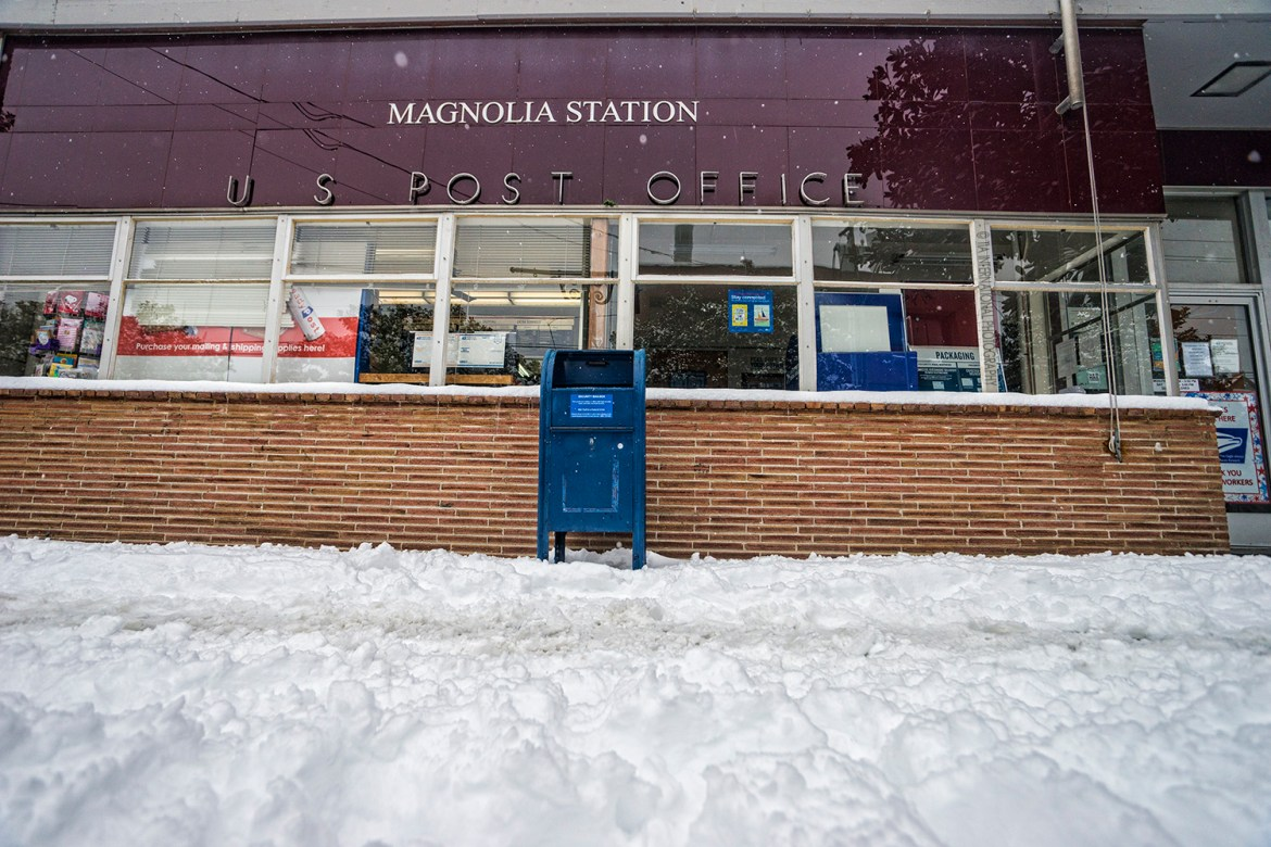 U.S. Post Office, Magnolia, Seattle (February 13, 2021).