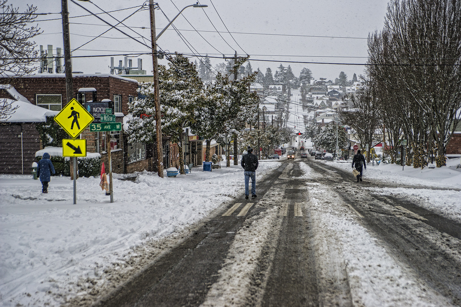 McGraw Street, Magnolia Village, Seattle (February 13, 2021).