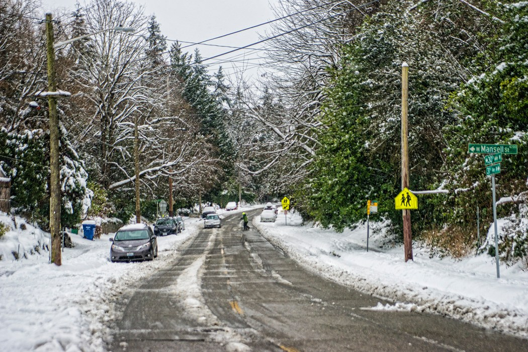 30th Avenue West, Magnolia, Seattle (February 14, 2021).