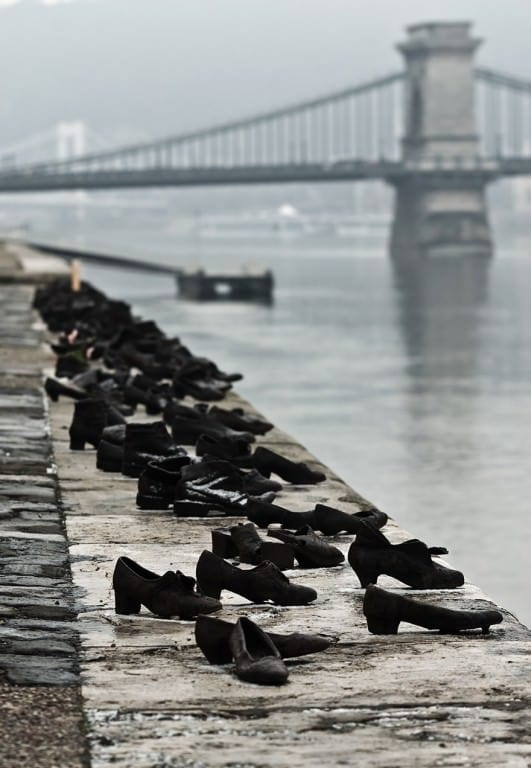The Shoes On The Danube Bank by Can Togay & Gyula Pauer, Budapest, Hungary