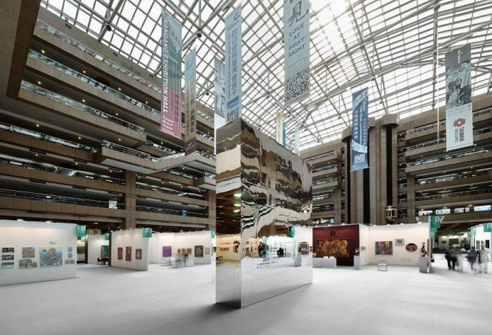 2015台北藝博展場空間動線分明