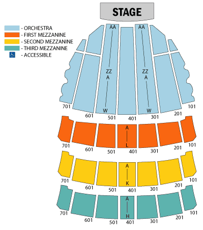 Seat Numbers Radio City Seating Chart