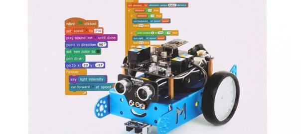 La educación en el instituto y el colegio para robótica tiene en los robots mBot un gran aliado