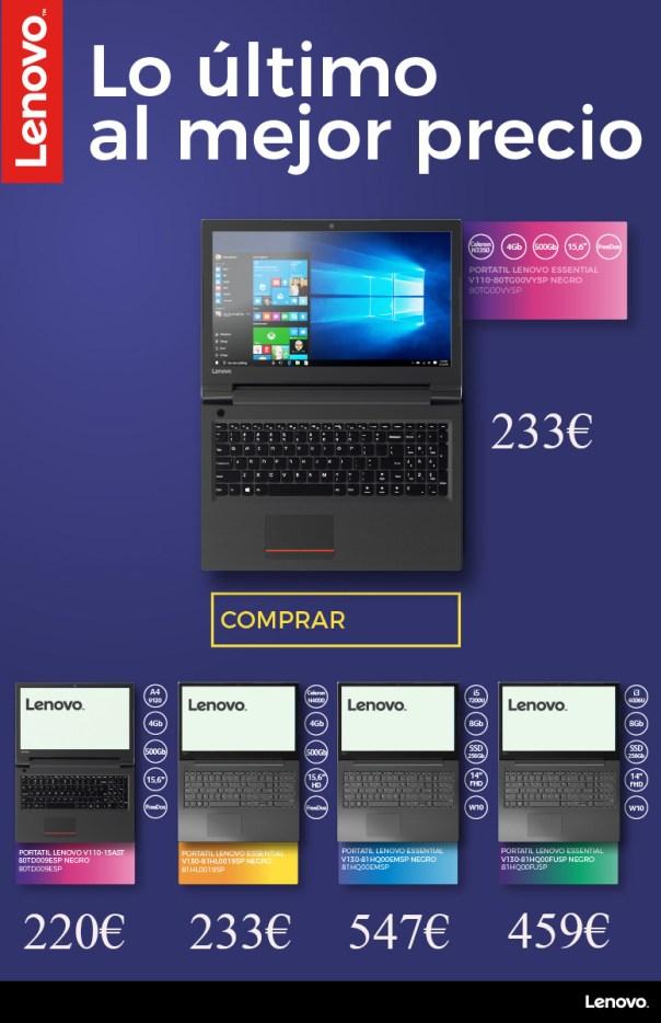 Oferta ordenadores portátiles Lenovo 2019