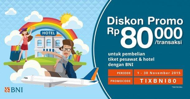 Promo Pesawat & Hotel BNI