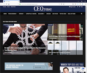 Do more with less at CEO Today Magazine