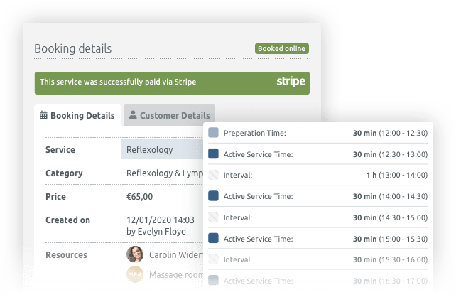 TIMIFY Booking Detail View Core Product