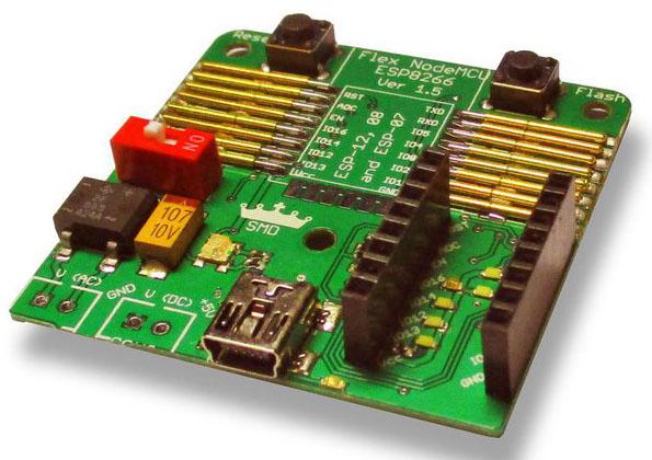The SMDKing Flexible NodeMCU ESP12, 08 and 07 programmer