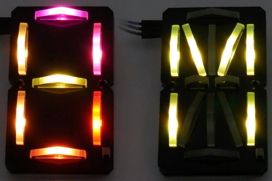 Edge-Lit Laser Segment Display