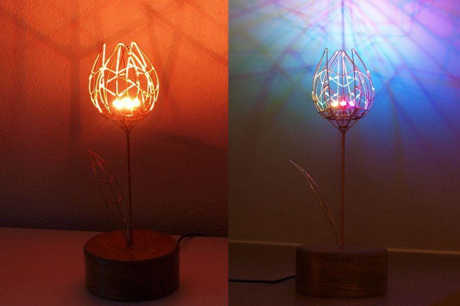 Roses are Red, Violets are Blue. Electromechanical Tulip Does Both and Has Arduino, Too
