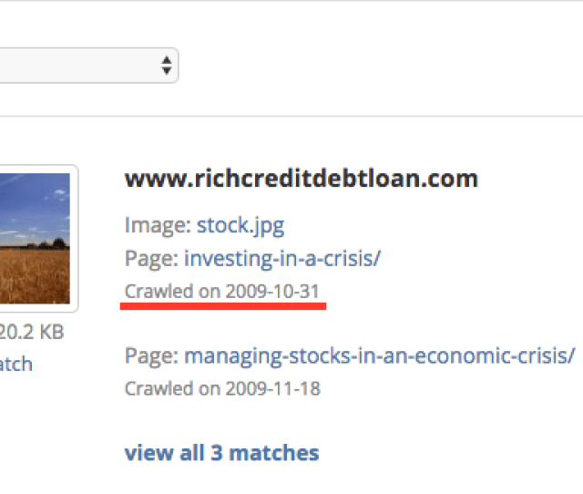 Sometimes Tineye Users Are Interested In Finding Out The First Time An Image Has Appeared On The Web However Our Tineye Crawl Date Is Not Really A Perfect