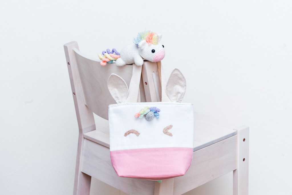 Tiny Rabbit Hole – Fusion Workshop with Beary Naise Sewing Lunch Tote Bag Unicorn