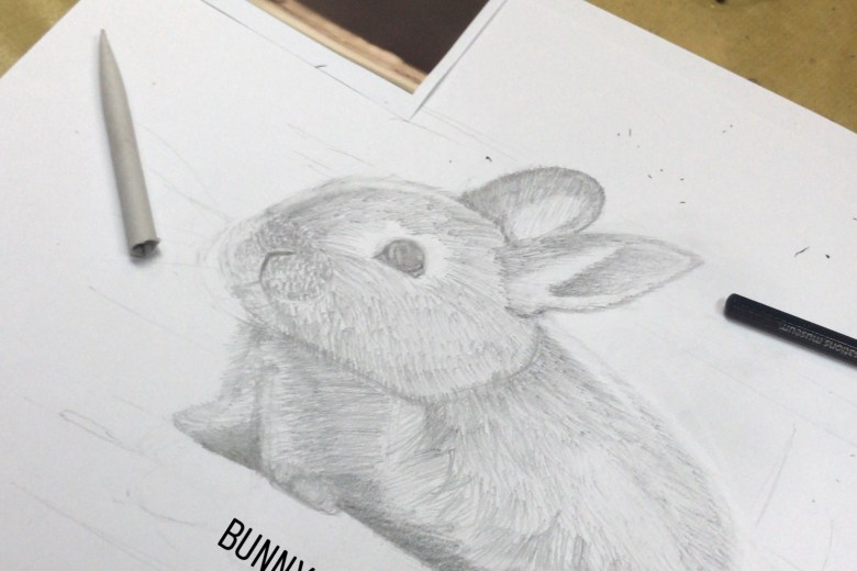 Tiny Rabbit Hole - The Fort Studios Drawing Painting Art Bunny Outline Sketching Shading