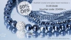 Beautiful Austrian crystal and glass bead necklace