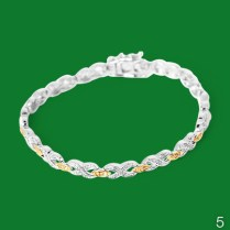 Diamond and gold plated bracelet