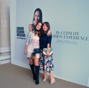 TJC in the FROW at London Fashion Weekend!
