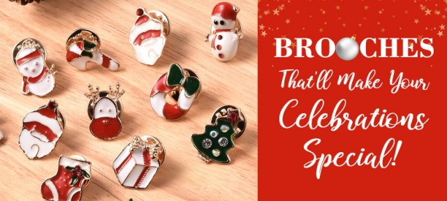 Christmas Brooches at TJC