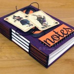"Caderno longstitch ""Alice in Halloween"""