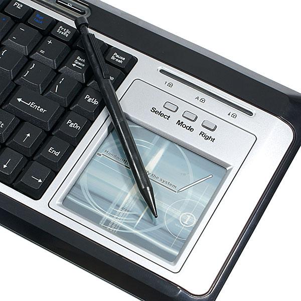 Detalle de la pantalla táctil del teclado