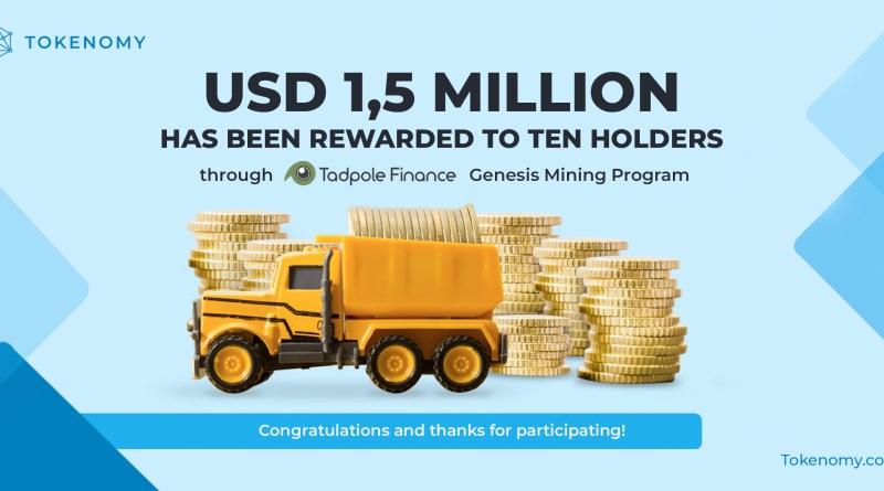 $ 1,5 Million Has Been Distributed to TEN Holders ThroughTadpole!