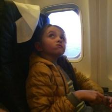 На борту самолета оказалось не менее интересно - как внутри, так и в иллюминаторе!