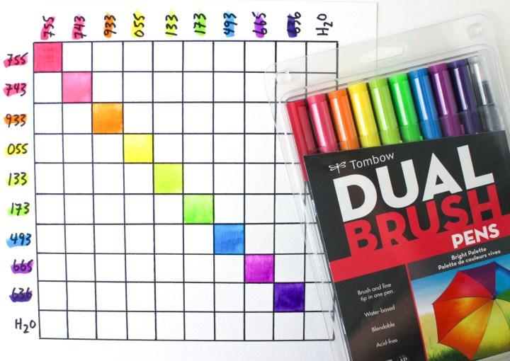Tombow Dual Brush Markers Color Chart Irfandiawhite