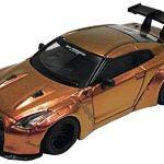 ミニカー発売情報 MINI GT LB★WORKS ニッサン GT-R R35 タイプ1 リアウイング バージョン1 マジックブロンズ 右ハンドル