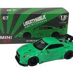 予約受付中!! MINI GT 1/64 LBWORKS ニッサン GT-R R35 タイプ1 リアウイング バージョン 1 ライトグリーン フィリピン限定