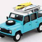 ミニカー発売情報 1/64 MINI GT ランドローバー ディフェンダー 110 w/サーフボード(ライトブルー)