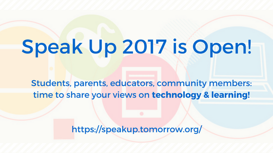 Speak UP 2017 is Open