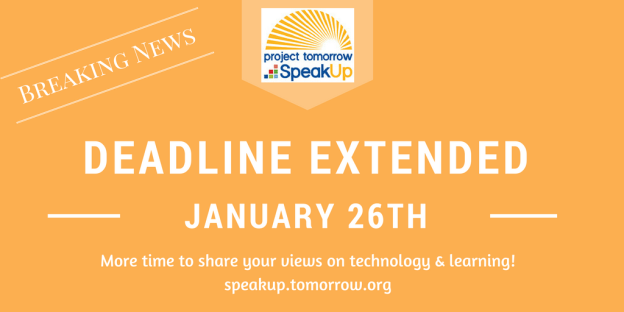 Speak Up Participation extended to Jan. 26