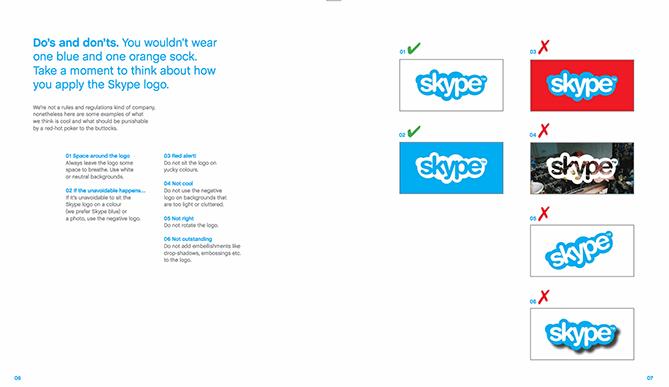 Logo Guidelines của Skype