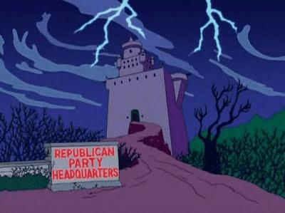 La sede del Partito Repubblicano USA secondo i Simpson