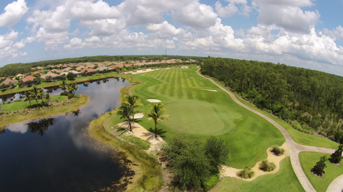 Overhead golf view the Plantation Fort Myers