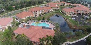 Bella Casa Luxury Condos in South Fort Myers Aerial View