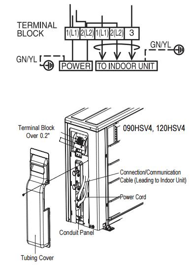 mitsubishi split system wiring diagram