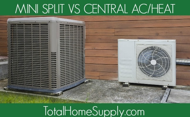 Image of central air unit and mini split unit